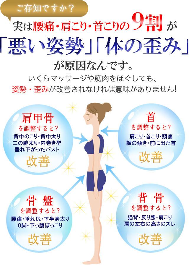 国分寺の整体【 口コミNo.1 】のぶ整体院のご存知ですか?実は腰痛・肩こり・首こりの9割が「悪い姿勢」「体の歪み」が原因なんです。