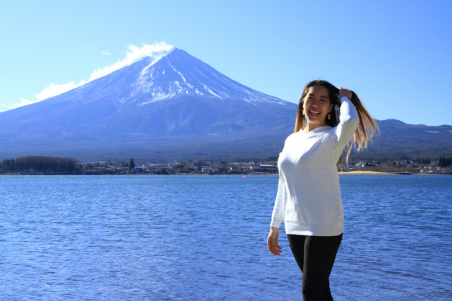 河口湖からの富士山🗻
