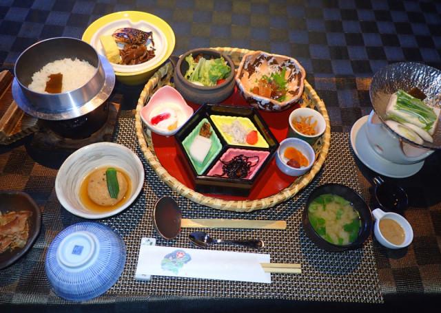 2日目・天翠茶寮さんにて朝食