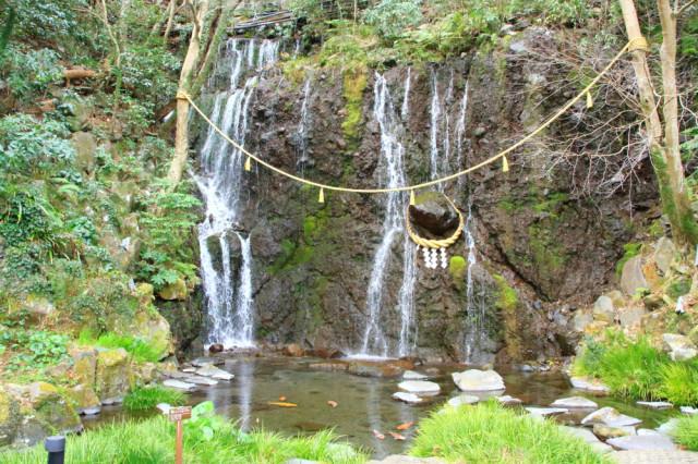 3日目・天成園の玉簾の滝