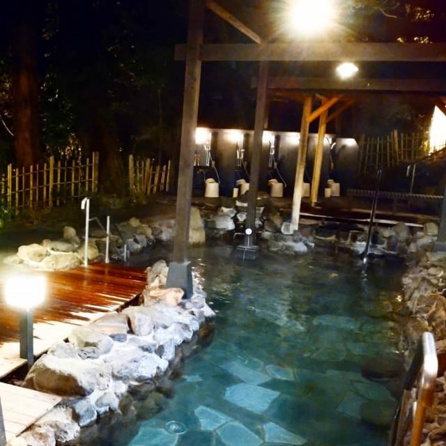 3日目・箱根湯寮さんの開放的な露天風呂♨