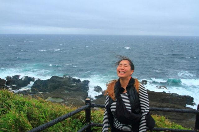 台風並みの強風の中、城ケ島公園を散歩