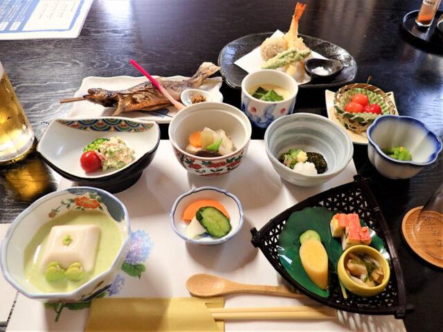 1泊目 黒湯温泉♨夕ご飯