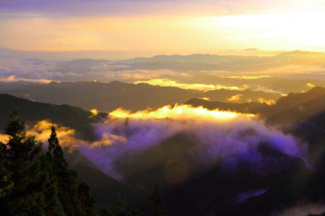 三峯神社の雲海スポット
